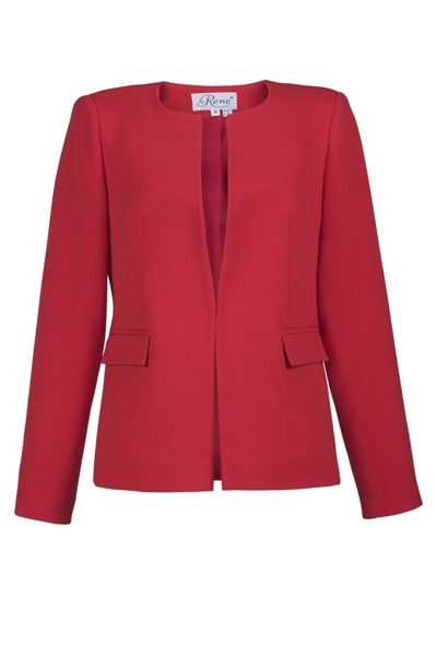 Jacket with Hook fastening   red