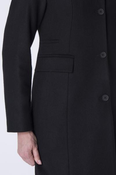 Płaszcz do kolan na guziki czarny
